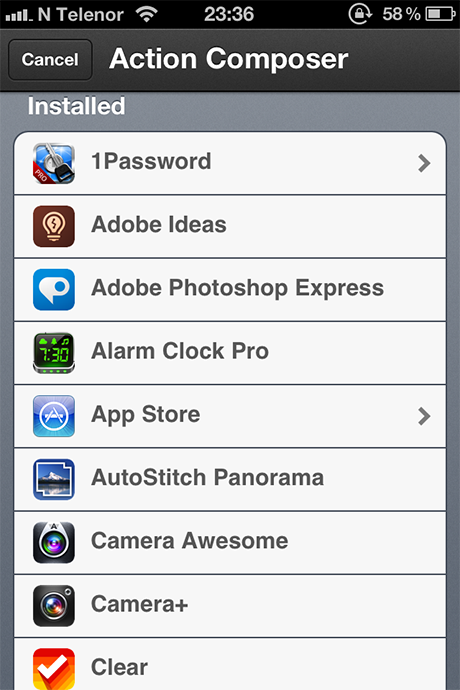 Launch Center Pro Action Composer Installed