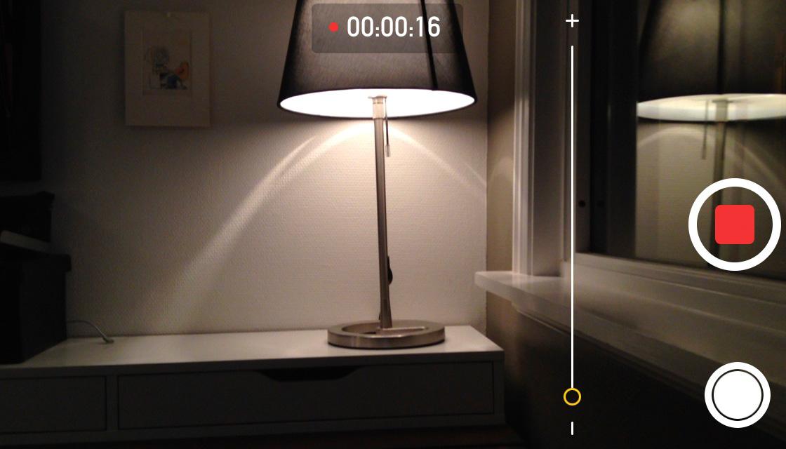 iOS 7 zoom videokamera