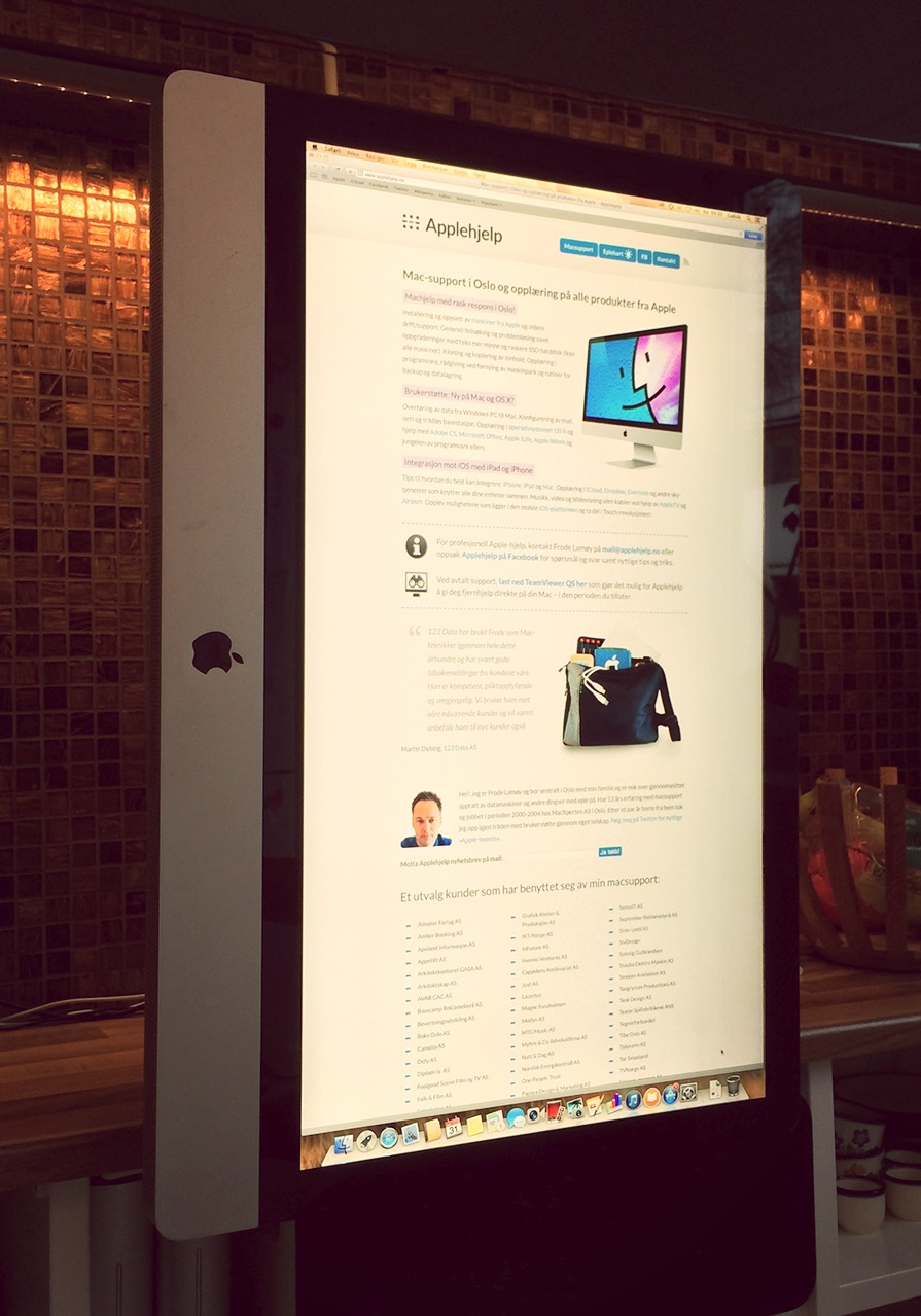 Vertikal iMac